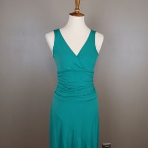 BCBGMaxAzria Green Dress with Bias Cut Skirt SZ S